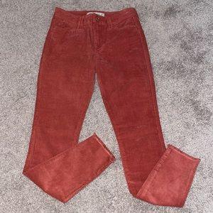 Abercrombie & Fitch 24 corduroy skinny pants women